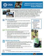 National Counter-Improvised Explosive Device Capabilities Analysis Database Fact Sheet