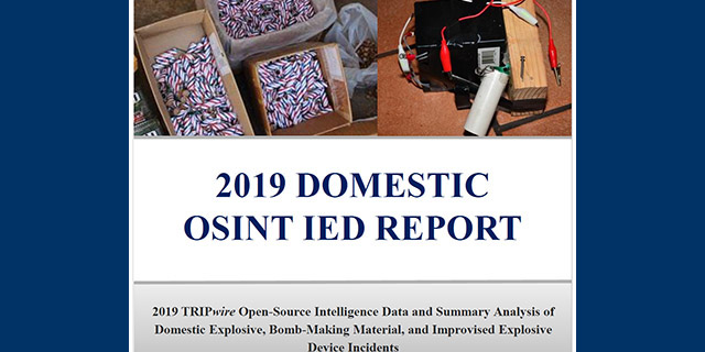Image for TRIPwire Annual 2019 Regional Domestic OSINT IED Report